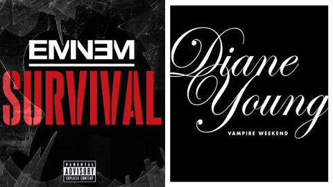 "Favorite Song of 2013 Contest: Round 1: Eminem ""Survival"" vs. Vampire Weekend ""Diane Young"""