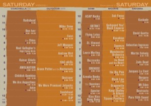 satcoachsched1 300x212 Zacks Coachella Top 10 Most Anticipated Shows