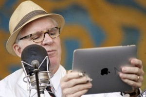 steveipad 300x200 Steve Martin plays a mean banjo at Jazz Fest: No joke